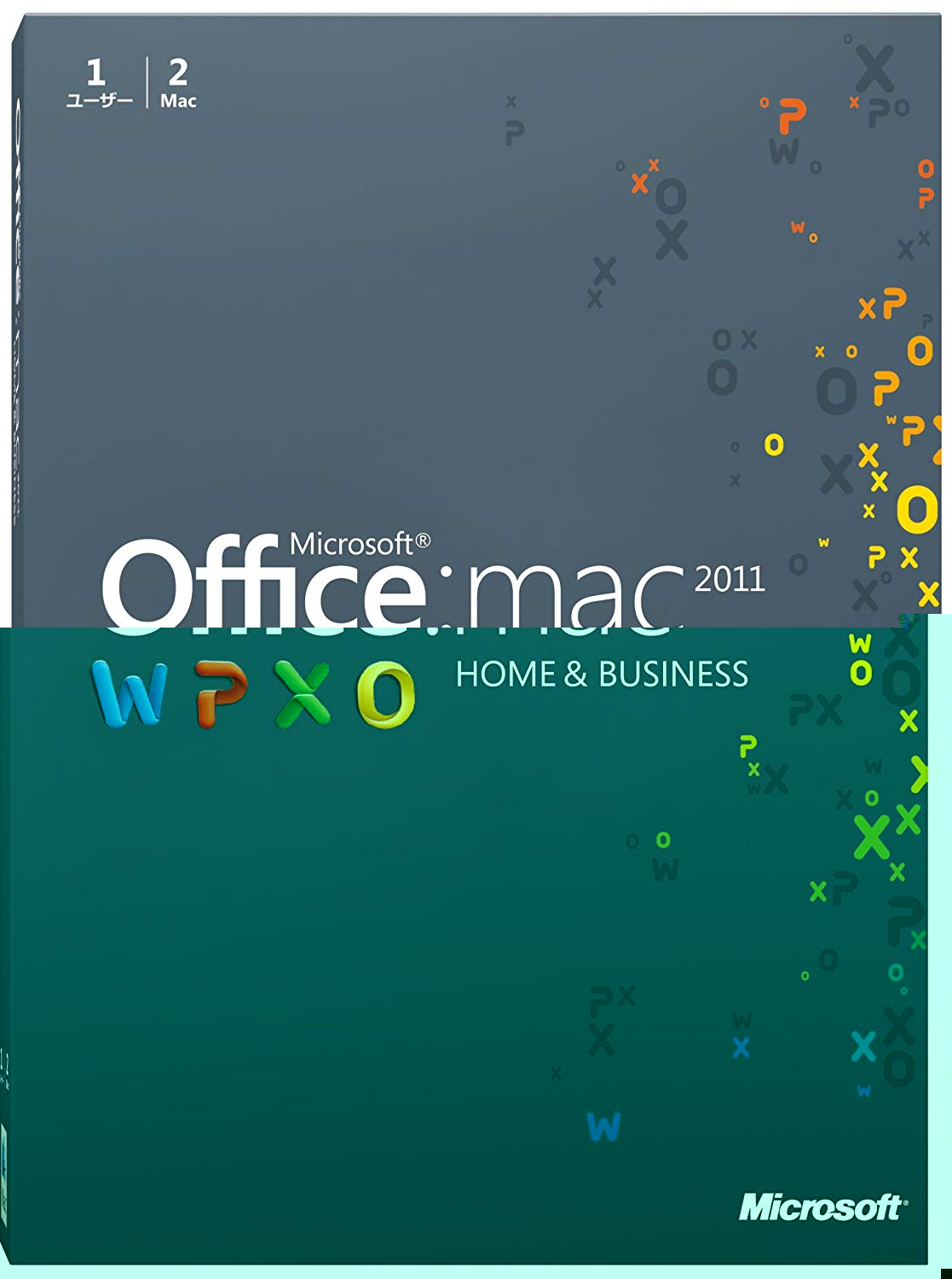 Microsoft Office for Mac Home and Business 2011-2 パック [パッケージ]
